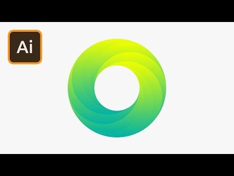Create a Swirling Gradient Logo in Illustrator - YouTube