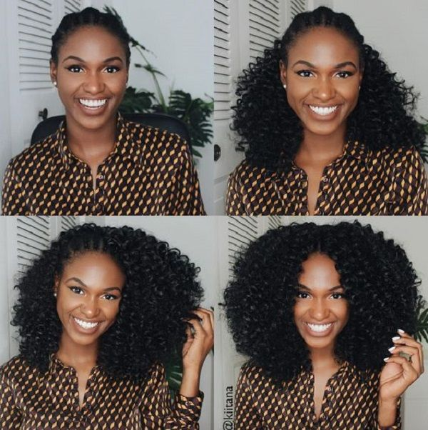 DIY Crochet natural hair style for winter