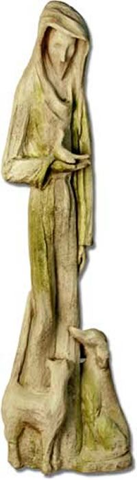 Abstract Saint Frances Outdoor Religious Garden Statue Statuary Made Of  Faux Concrete/Stone. Available