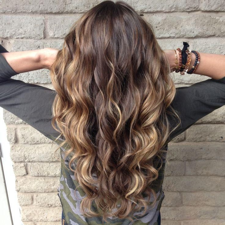 new curls! Balayage highlights. Sun kissed hair..