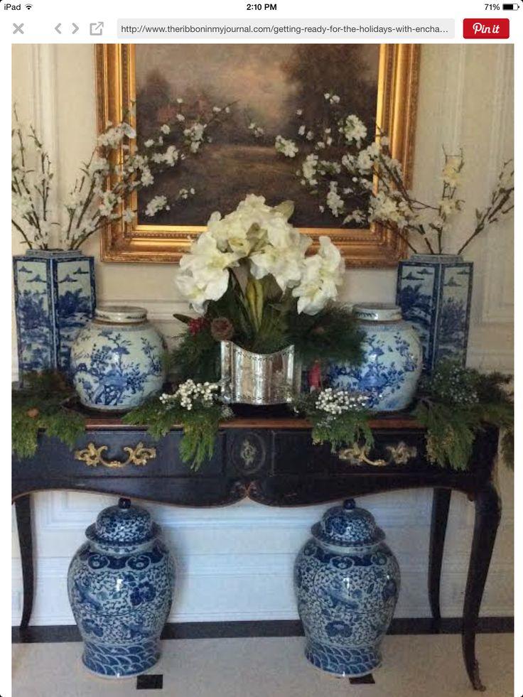 Best Decor Blue White Porcelain Images On Pinterest