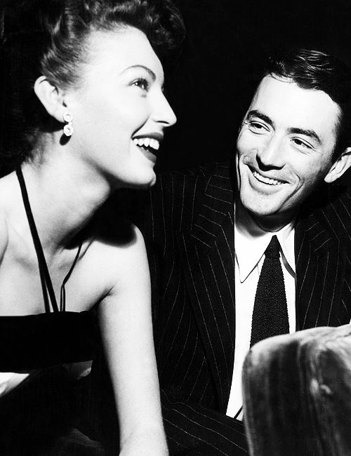 Ava Gardner and Gregory Peck. Gregory Peck's smile reminds me of Hugh Jackman.