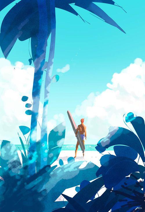 pascalcampion: Let's make some waves. #illustration