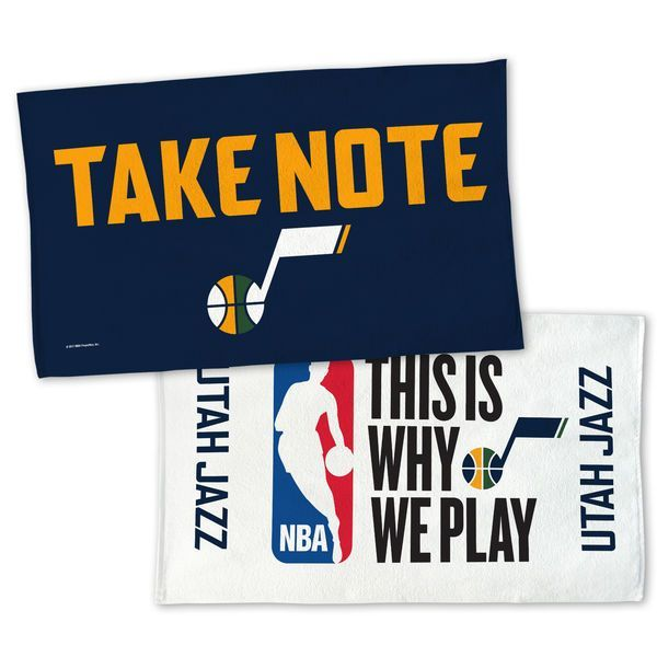 Utah Jazz WinCraft 2017 NBA Playoffs 22'' x 42'' Two-Sided Locker Room Towel - $22.99 | The Rose Shop is the official florist for OUR Utah Jazz | Utah Full-Service Florist |  #utahjazz #jazzfans #takenote #theroseshop #roseshopflowers