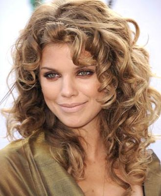 Annalynne McCord's hair is incredible. I'm thinking about getting mine permed like this....think I could pull it off?
