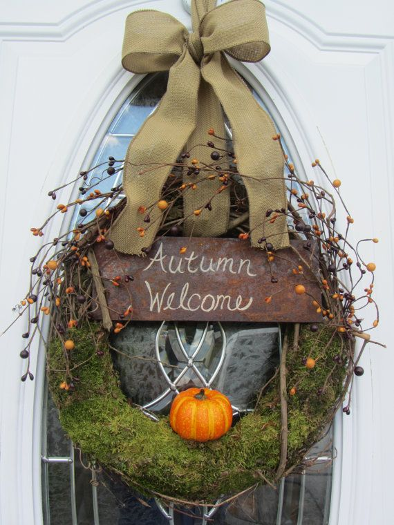 Fall Wreath  Door Wreath  Autumn Wreath  by DoorWreathsByDesign, $56.95