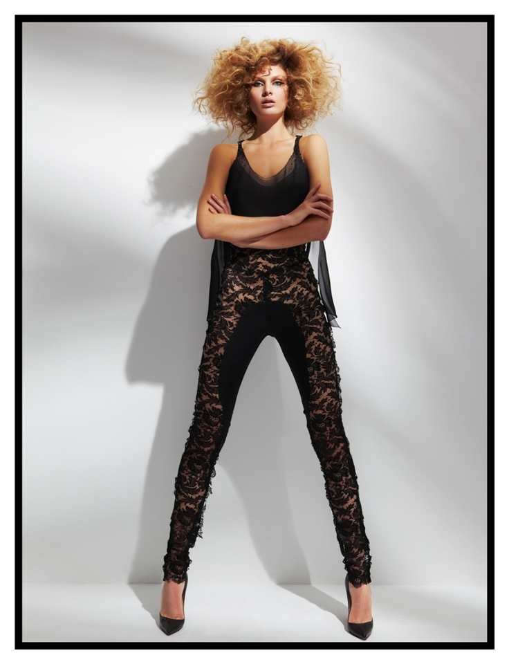 Silk and lace pants
