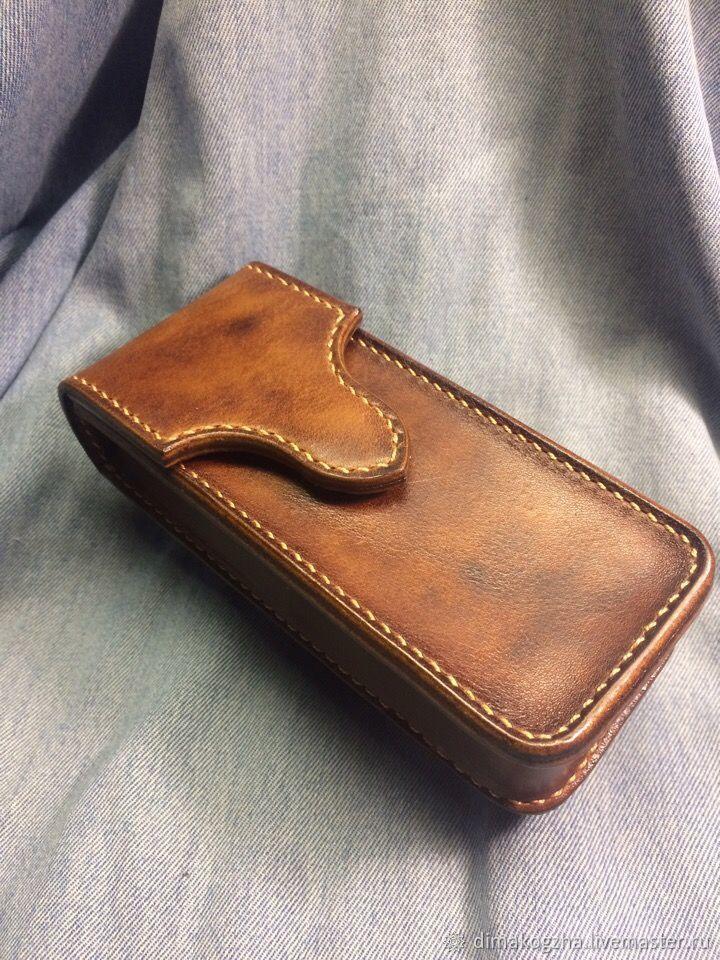9b82f9098260 Для телефонов ручной работы. Чехол-кобура для телефона из натуральной кожи.  Dima.