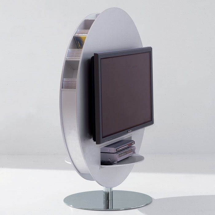 Bonaldo - Vision Swivel TV Stand - Matt Silver