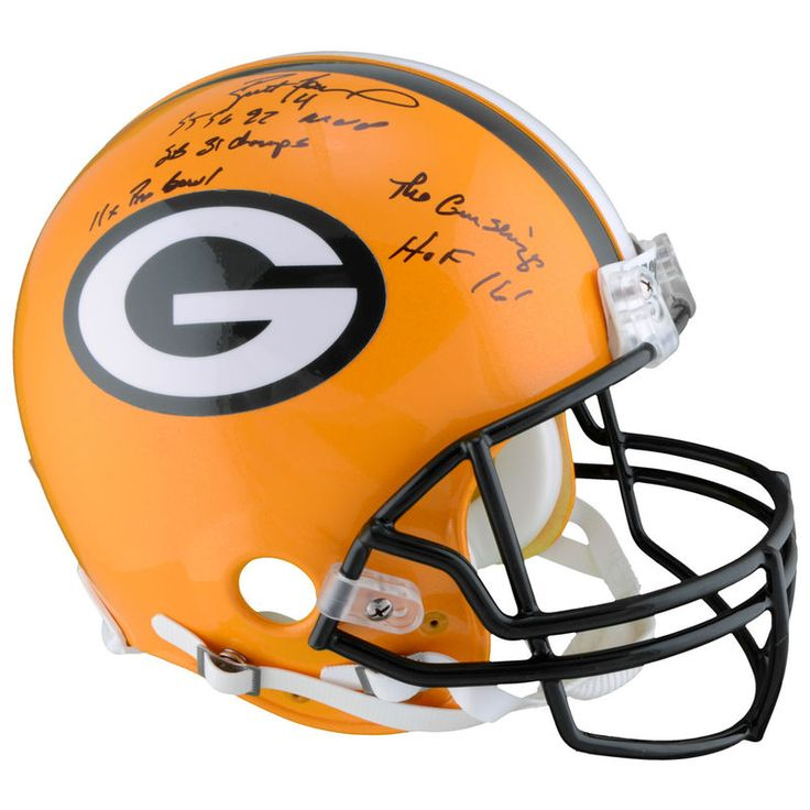 Brett Favre Green Bay Packers Fanatics Authentic Autographed Proline Helmet with Career Stats - Limited Edition of 12