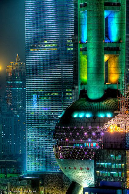 Shanghai up close - Oriental Pearl Tower by Photomike07 / MDSimages.com, via Flickr...love Shanghai!