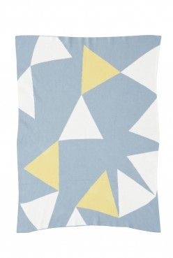 The Tammy #Baby #Blanket Arona/Snow White/Dusty Yellow with Arona blanket stitch edging Find here: http://kateandkate.com.au/shop/baby-blankets/the-tammy-baby-3/