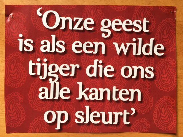 Is jouw geest ook als een wilde tijger die jou alle kanten op sleurt?