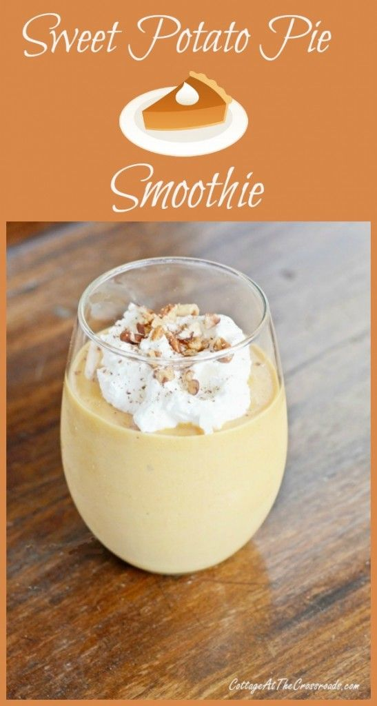 This sweet potato smoothie tastes just like Grandma's pie without all the carbs and calories!