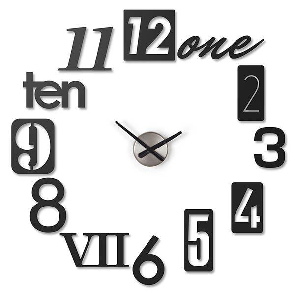 Horloge Design, Achat/Vente Horloge Originale avec chiffres à coller, Numbra - Monentreedesign.com