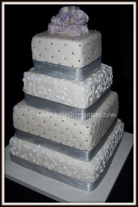 Best 25 Silver Wedding Cakes Ideas On Pinterest Glitter