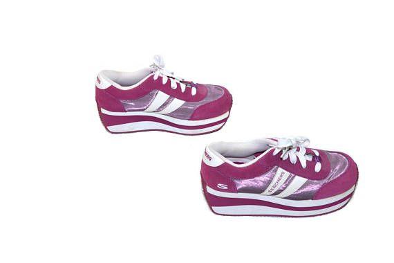 Vintage Platform Sneakers Skechers Sneakers Purple Sneakers