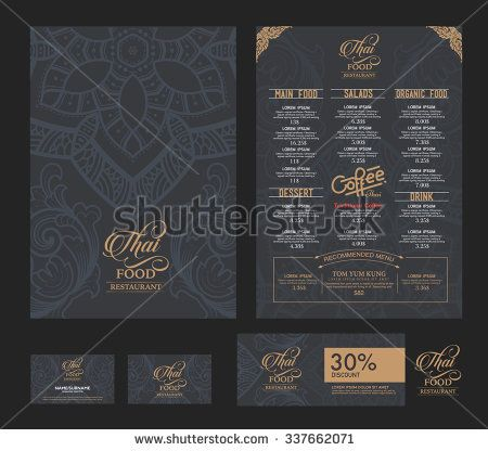 200 best Menu images on Pinterest Thai design, Thai pattern and - sample drink menu template