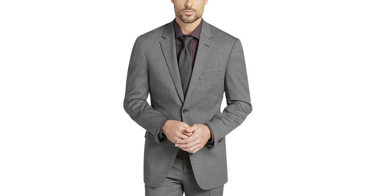 Check this out! Awearness Kenneth Cole Gray Slim Fit Suit - Men's Slim Fit from MensWearhouse. #MensWearhouse