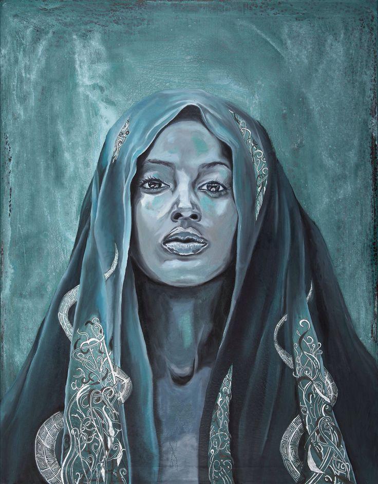 Turquiouse. Mixs media by Mona Lian, monalian.com