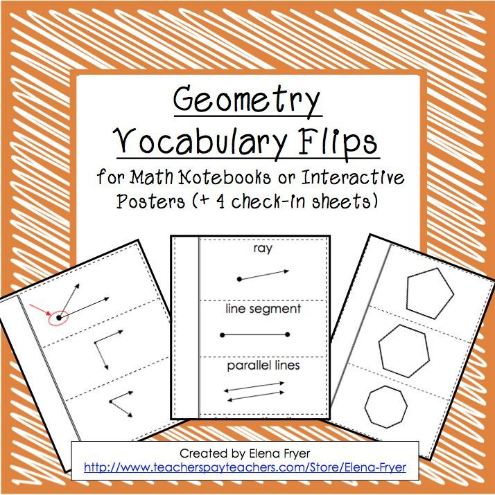 Use these interactive notebook vocabulary flips to help students organize geometry notes! $