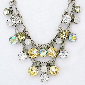 This is so fabulous!  Sorrelli Lemon Zest. A favorite Sorrelli necklace recolored with sparkling lemon drops, clear & opal crystals. Dress it up or down & wait for the complements.