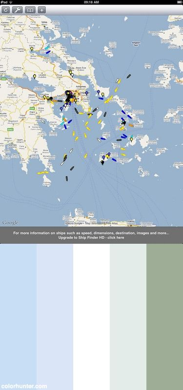 Ios Ipad Ship Finder App Color Scheme