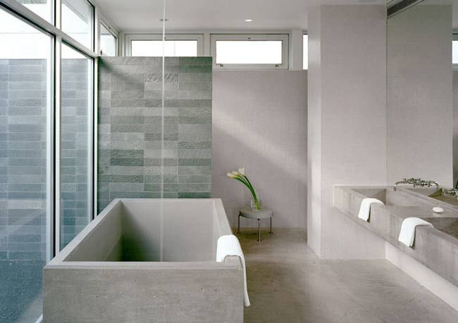 concrete tub.  New York firm Audrey Matlock Architect