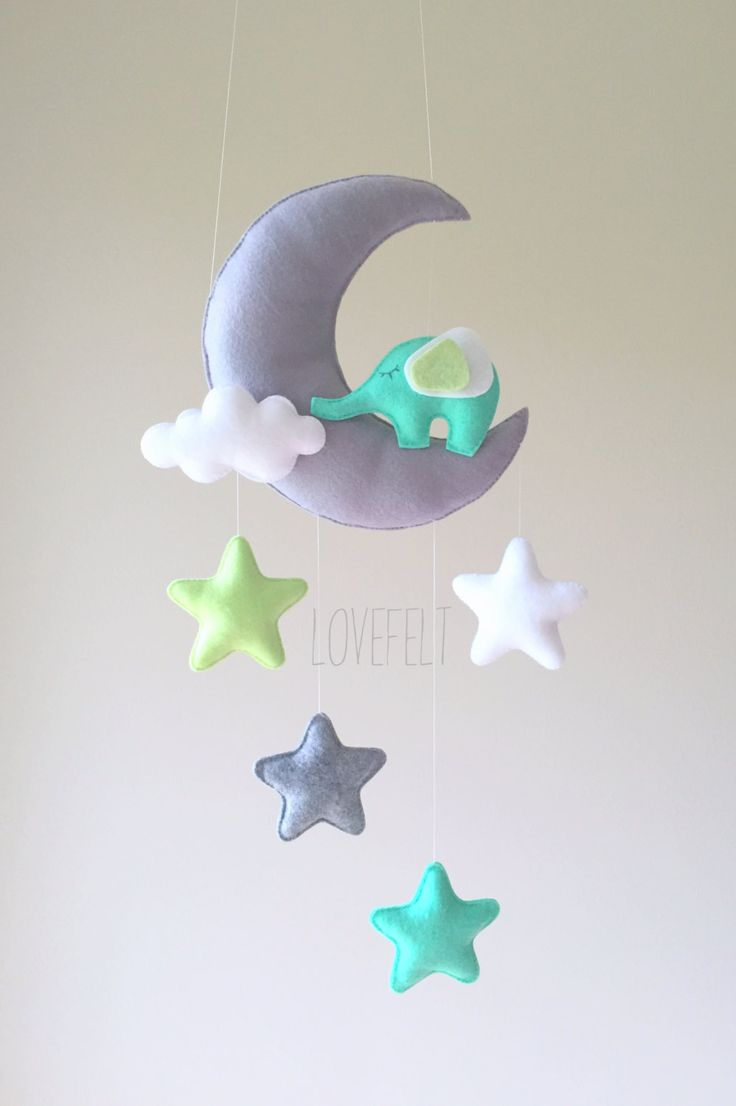 the  best elephant mobile ideas on pinterest  elephant pattern  - baby mobile  mobile moon  elephant mobile  crib mobile elephant  babymobile stars