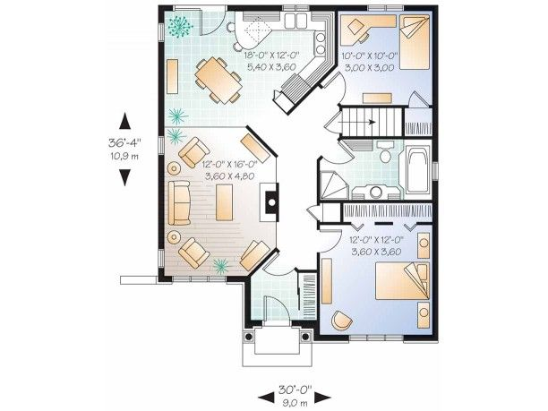 433 best images about floorplans 1000 2000 sq ft on for Bungalow house plans 2000 square feet
