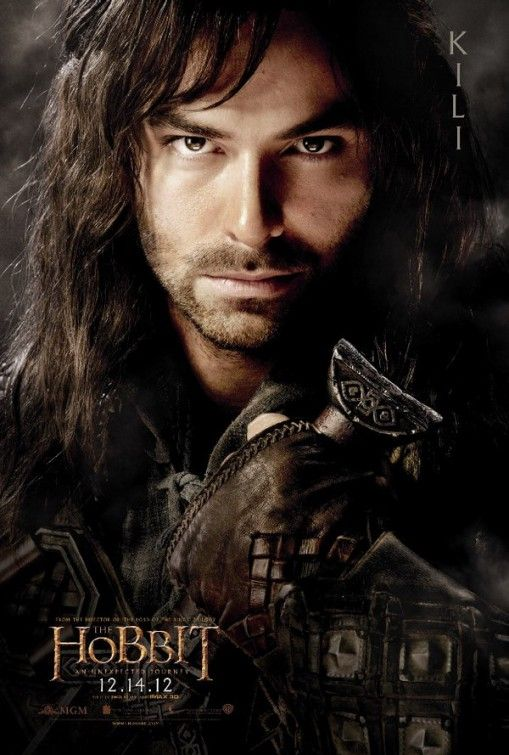 Aidan Turner as Kili in poster from The Hobbit: An Unexpected Journey