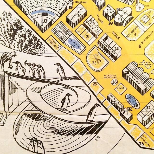 Edward Bawden's 1936 plan of London Zoo