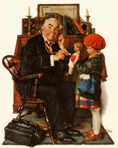 Norman Rockwell - this pic will always make me think of Dr. Lee. I was his patient for 33 years!