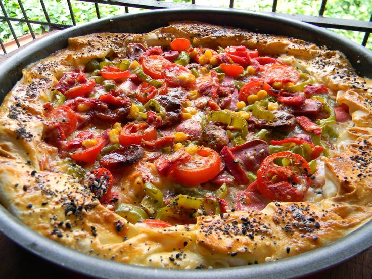 Yufkadan Pratik Pizza. | Vişnap