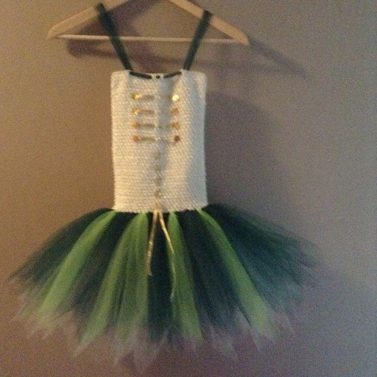 Handmade Disney Pirate Fairy Zarina Tutu Dress age 7-8 years