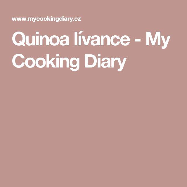 Quinoa lívance - My Cooking Diary