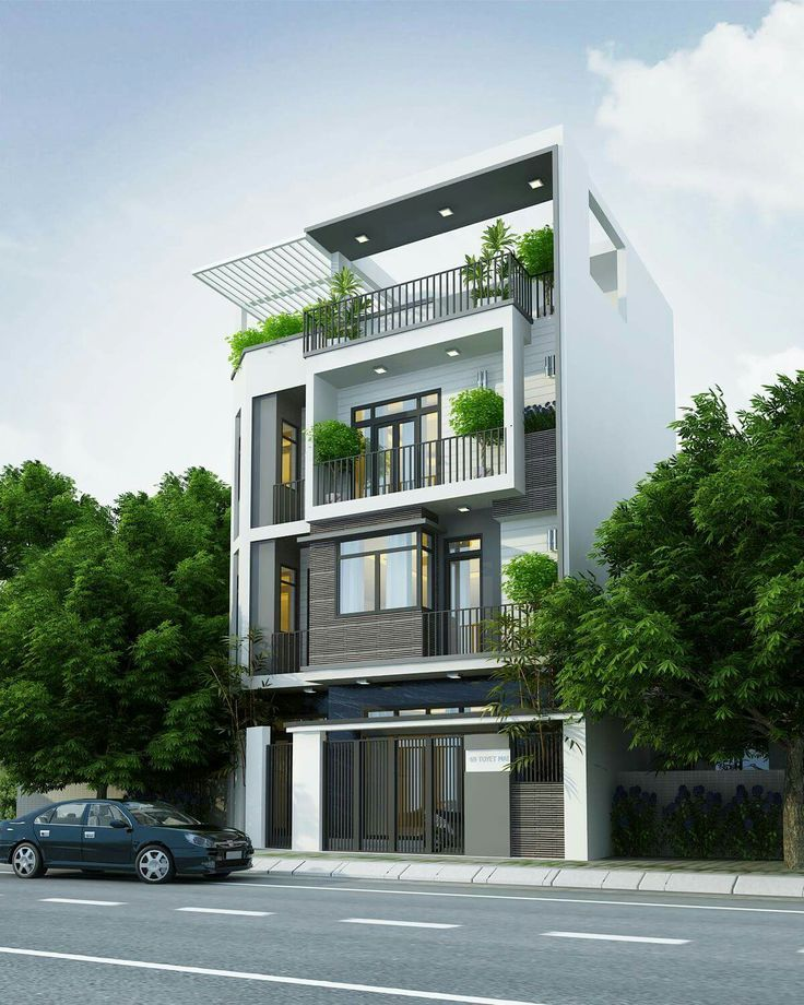 Modern Two Storey House Design With Terrace: NHA PP Trong 2019