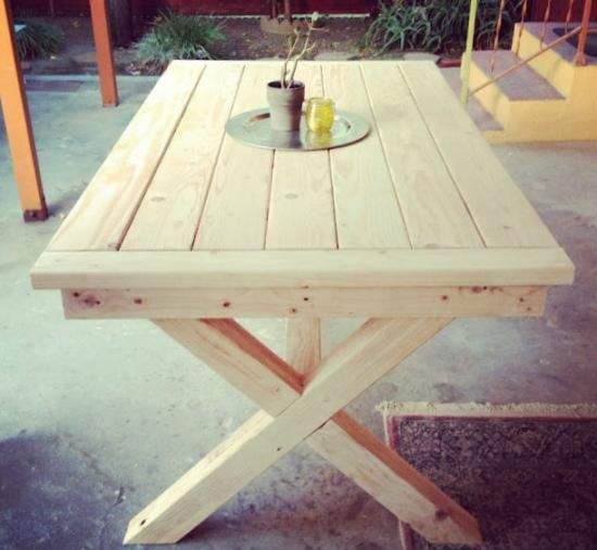Free DIY Furniture Plans: Outdoor Toscana Table - The Design Confidential www.thedesignconfidential.com