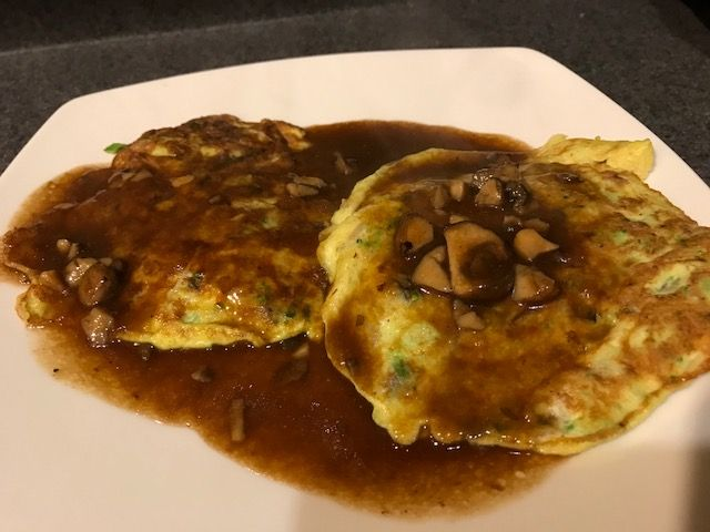 This is not your ordinary egg foo young recipe. The vegetables used in this recipe are a combination of yummy ingredients for this particular Chinese food dish. And, topped with a brown gravy sauce that doesn't contain sugar or soy makes it an even better recipe for those on the keto diet!