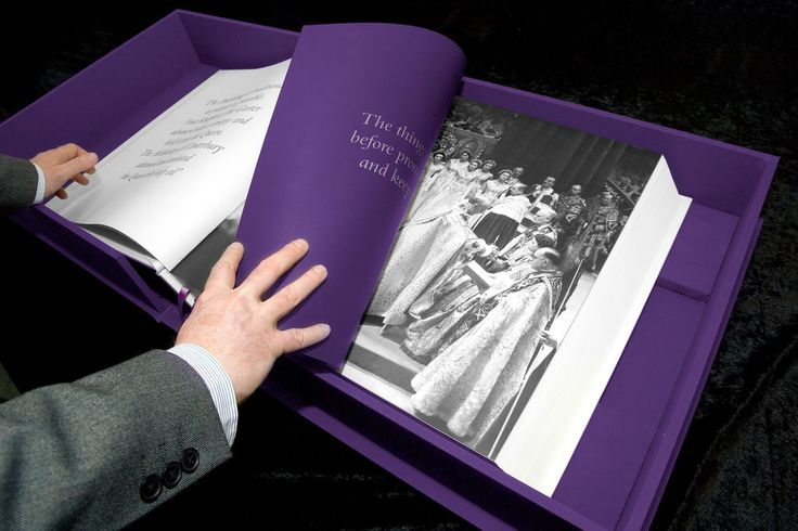 Part of a chapter about the Coronation. #design #book #presentation #case #luxury