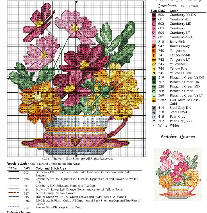 Cross-stitch Pretty Flowers... Gallery.ru / Photo # 2 - 12 cups - irisha-ira