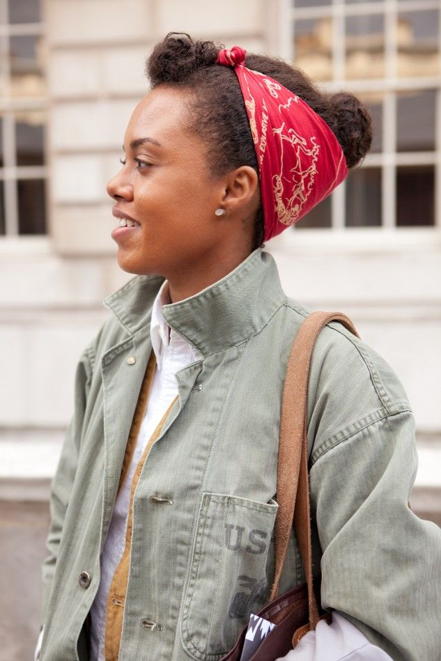 Afro Street Fashion | Ghetto.Miss.Afro™: STREET STYLE: Mini Quiff & a Bun wrapped in head ...