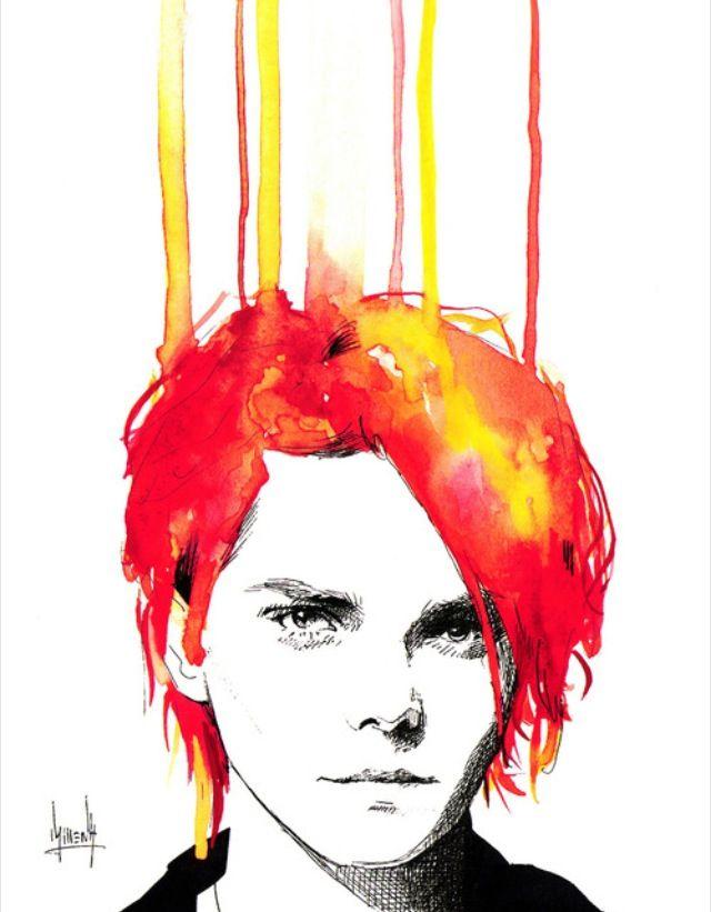 Gerard Way Art Piece I think its on Etsy | so beautiful
