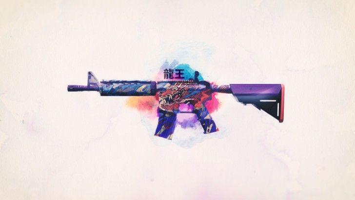 Скачать M4A4 Короля Дракона Counter-Strike Global Offensive Weapon 1920x1080 кожи