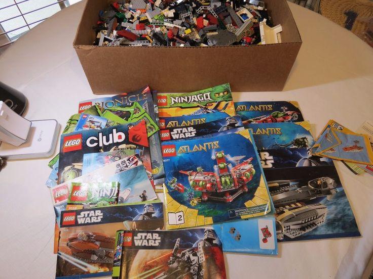 HUGE lot of Legos 10 lbs loose building Star Wars Lego instruction books 8095 #Lego