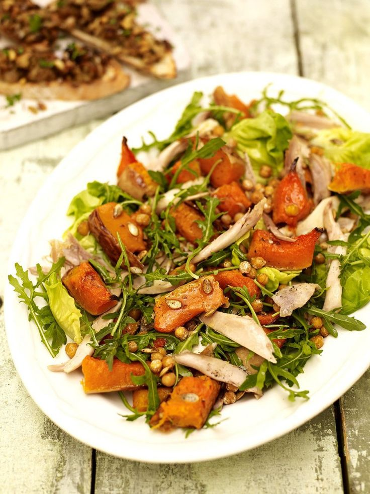 Chicken and Squash Salad - this is a great way of using up leftover roast chicken and stuffing. : jamieoliver
