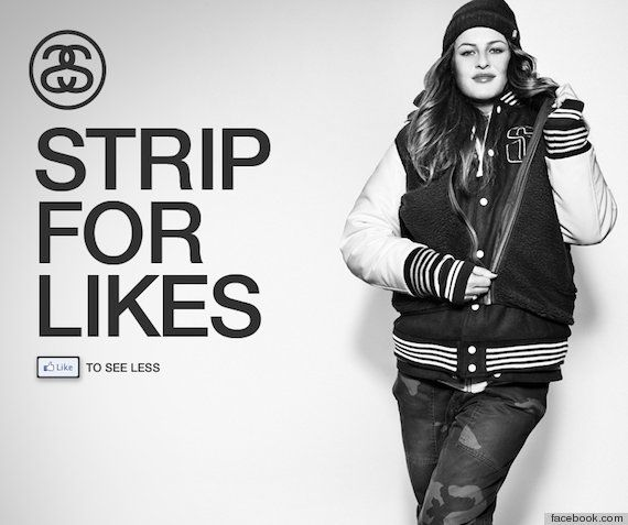Stussy Model Strips For 'Likes' On Facebook (PHOTO, POLL)