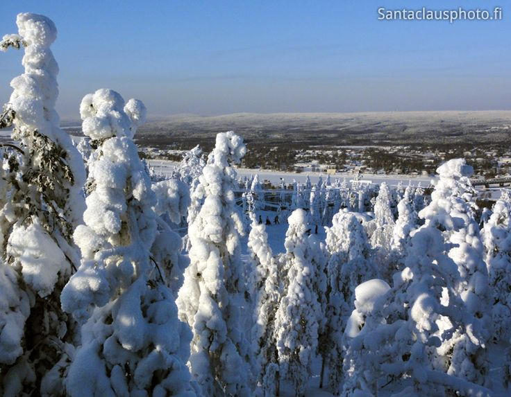 Winter landscape in Rovaniemi in Lapland in Finland