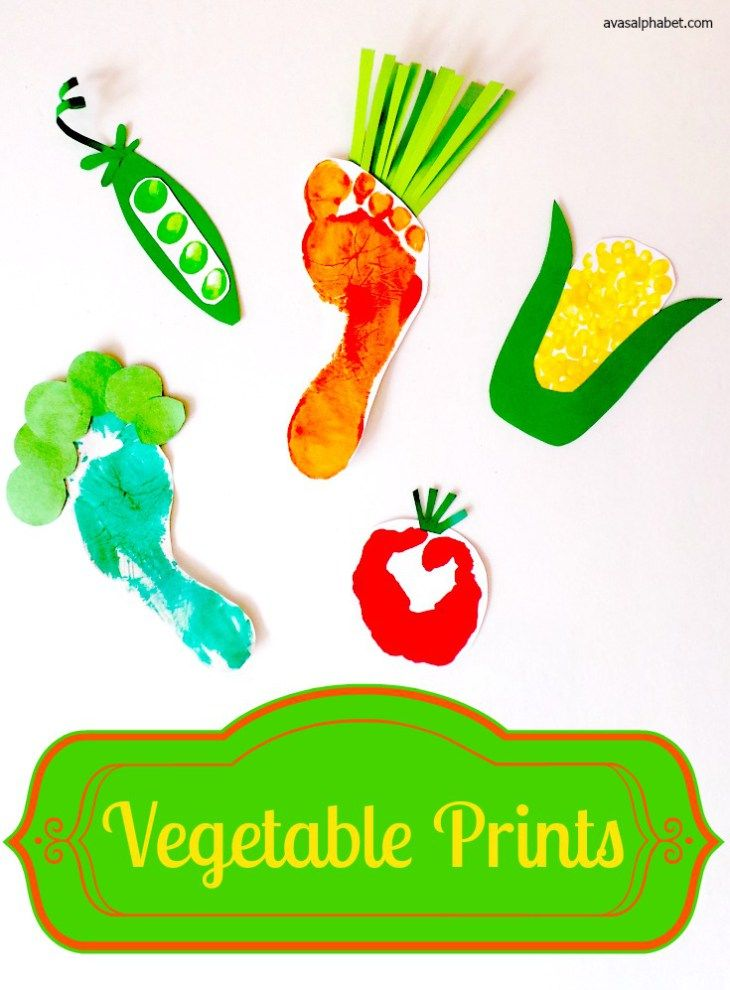 Vegetable Prints - Make a garden of fun veggies out of hand, foot and fingerprints. A perfect summer craft to celebrate garden harvest time!