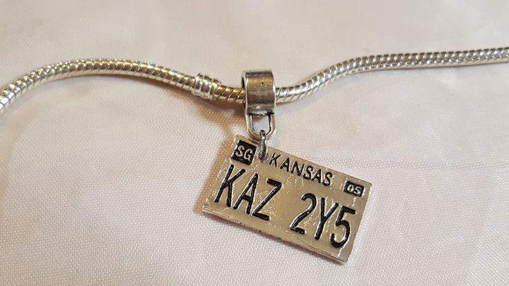 Kansas License Plates / Supernatural / Dean's Car Plates - Fits all Designer and European Charm Bracelets*